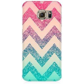 RAYITE Colourful Chevron Premium Printed Mobile Back Case Cover For Samsung S6 Edge G9250