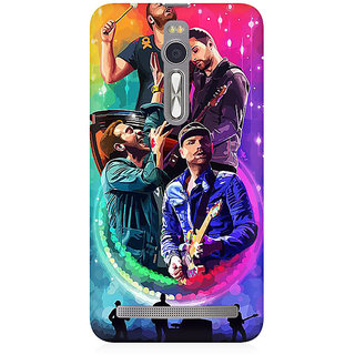 RAYITE Coldplay Art Premium Printed Mobile Back Case Cover For Asus Zenfone 2