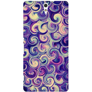 RAYITE Watercolor Waves Premium Printed Mobile Back Case Cover For Sony Xperia C5