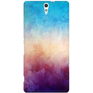 RAYITE Colourful Wall Premium Printed Mobile Back Case Cover For Sony Xperia C5