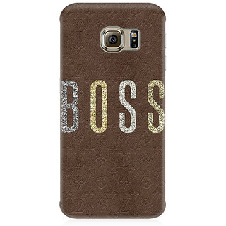 RAYITE Boss Premium Printed Mobile Back Case Cover For Samsung S7 Edge