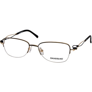 David Blake Matte Black Cat Eye Half Rim EyeFrame