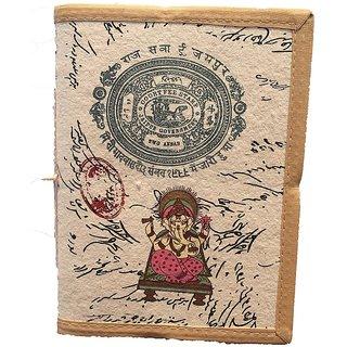 Handmade Ganesh Print Bahi Khata Diary (Size 8X6 inch)