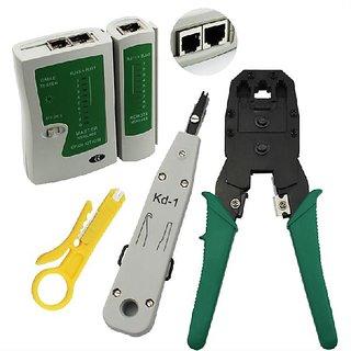 LAN Ethernet Network Tool Kit Cable Tester Crimp Crimper Plug Plierse