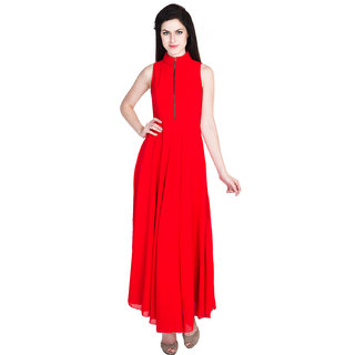 799b035558cd9 Buy D S Women s wear Western Red Color Georgette Party Long Maxi ...