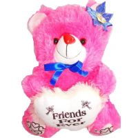 Teddy Bear With Heart, Valentine,kid,child,love Diwali Gift, Soft Toys, PINK,