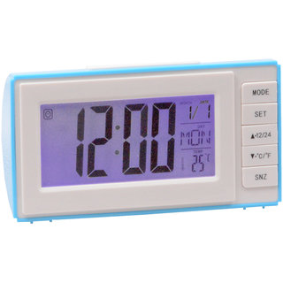 Jm Voice Control Table Clock With Sound Sensor Calendar Alarm Table Clock Thermometer  Timer - 306