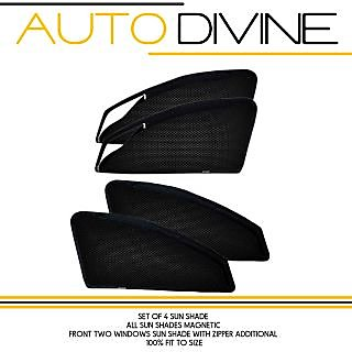 hyundai XCENT, Car Accessories Side Window Zipper Magnetic Sun Shade, Set of 4 Curtains.