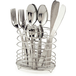 Elegante Vectra Stainless Steel Cutlery Set - 24 Pcs With Stand