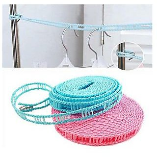Kudos 3.5 Meter Drying Cloths Line Anti Slip Retractable Hanging Hook Rope
