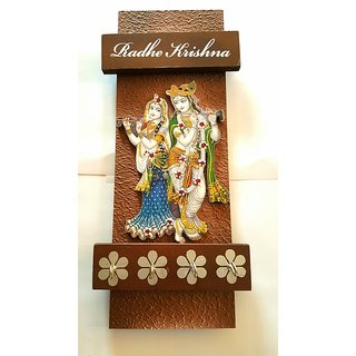 Satya Radha Krishna wood key holder multi color