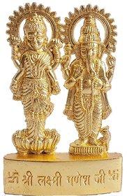 Satya Gold Plated Laxmi Ji And Ganesh Ji Idol [Metal] - 1 Pc