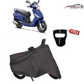 De Autocare Premium Grey Matty Two Wheeler Scooty Body Cover For Mahindra G