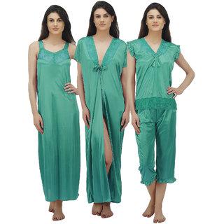 3ad00079e0 Buy Arlopa Nightwear Pack Of 4 Containing Nighty Robe Top And Capri ...