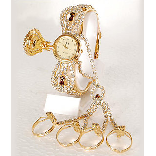Other Dial Multi Metal Analog Watch For Women