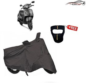 De Autocare Premium Grey Matty Two Wheeler Scooty Body Cover For Tvs Jupite