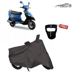 De Autocare Premium Grey Matty Two Wheeler Scooty Body Cover For Tvs Scooty