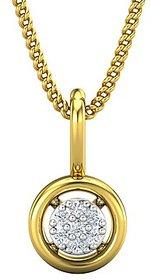 Jewel Hub Certified Diamond Sparkling Pendant 0.03 ct / 0.45gm 18k Yellow Gold