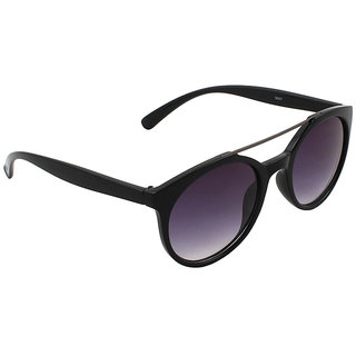 6by6 Black Round Unisex Sunglasses
