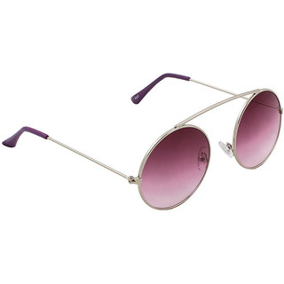 6by6 Silver Round Unisex Sunglasses