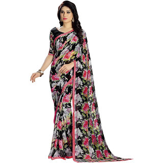 Vastrani Women's Georgette Multi Printed Casual Wear Saree