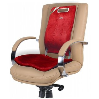 Sabar Back Support For Chair - Magneto Backguard With Extra Curvature  3091XC - Orthopedic Lumbar Back Support Seat - Maroon