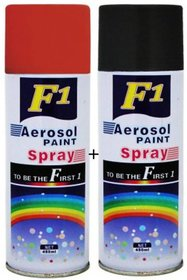 F1 AEROSOL SPRAY PAINT RED AND BLACK SET