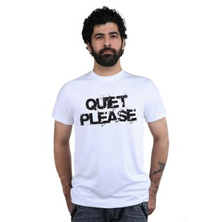 Snoby Quiet Please Printed T-shirt