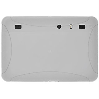 Amzer 90481 Silicone Skin Jelly Case - Transparent White for Motorola XOOM