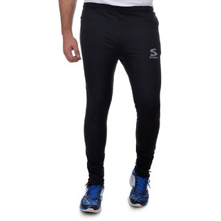 SURLY Black 4 Way Lycra Highly Stretchable Trackpant