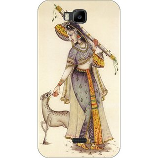 Go Hooked Designer Soft Back Cover For HUAWEI HONOR BEE + Free Mobile Stand (Assorted Design)