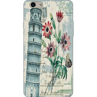 Go Hooked Designer Soft Back Cover For OPPO A57 + Free Mobile Stand (Assorted Design)