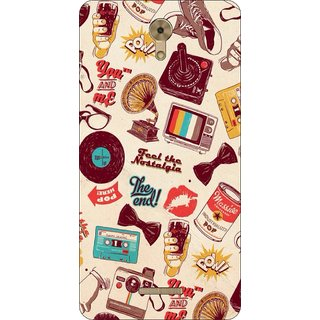 Go Hooked Designer Soft Back Cover For COOLPAD MEGA 3 + Free Mobile Stand (Assorted Design)