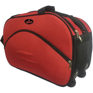 5a4663de8f Bagther Red Polyester Duffel Bag (2 Wheels)