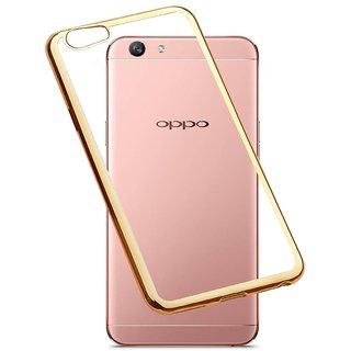sale retailer e853f b2e6f ACCWORLD Luxury Soft Back Case Cover with Silicone Tpu Bumper for Oppo F1S  (Gold)