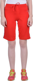 Dollar Missy Women'S Red Color Cotton Knit Short