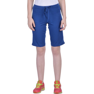 Dollar Missy Women'S True Blue Color Cotton Knit Short