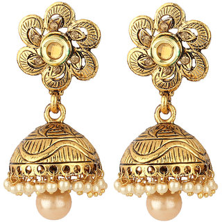 jewellers stone product kista earrings golden with aqua