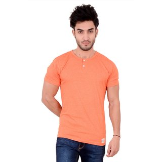 BUTTONED-ROUND NECK(ORANGE)