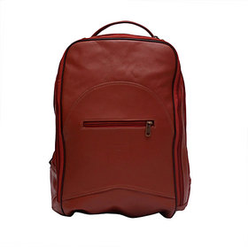 BACKBENCHERZ Leather Backpack Brown
