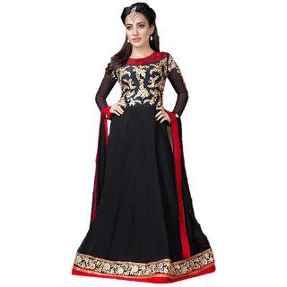 Indian Wear Online Black Georgette Dress Material (Unstitched)