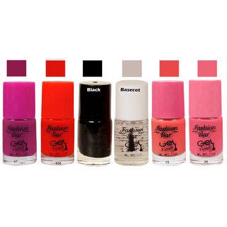 Fashion Bar  Nail Polish  Goggly Purple Matte 30 ml Pack of 6