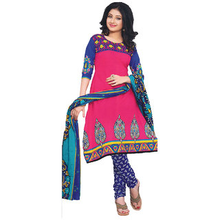 Indian Wear Online Pink Georgette Dress Material (Unstitched)