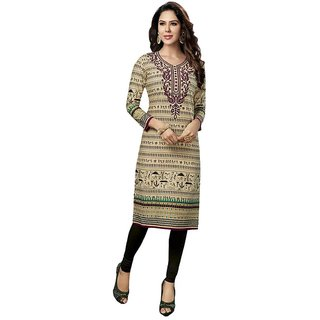 Indian Wear Online Multi Cotton Printed Unstitched Kurti Material