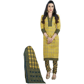 7e235a218baa Buy Indian Wear Online Yellow Cotton Dress Material (Unstitched ...