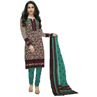 Indian Wear Online Multi Cotton Printed Un-Stiched Dress Material (Unstitched)