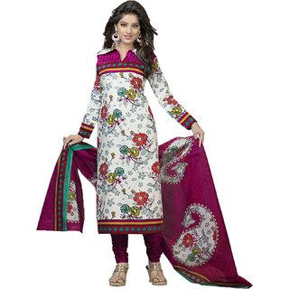 Indian Wear Online Multi Color Cotton Dress Material (Unstitched)