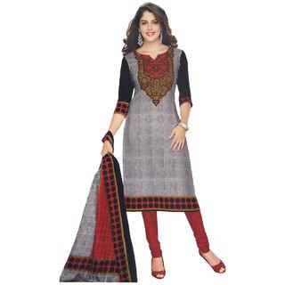 Indian Wear Online Multicolor Cotton Dress Material (Unstitched)