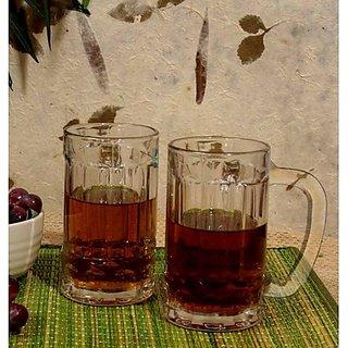 BlinkMax Glassware-Blinkmax German Beer Mug - Set Of 2 Glasses-405 Ml Each