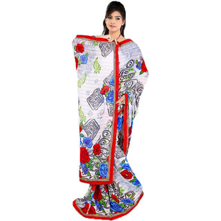 Indian Wholesale Clothing Multi Color Faux Georgette Saree
